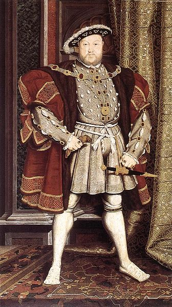 Henry VIII of England by Hans Holbein the Younger (1498-1543) circa 1537.