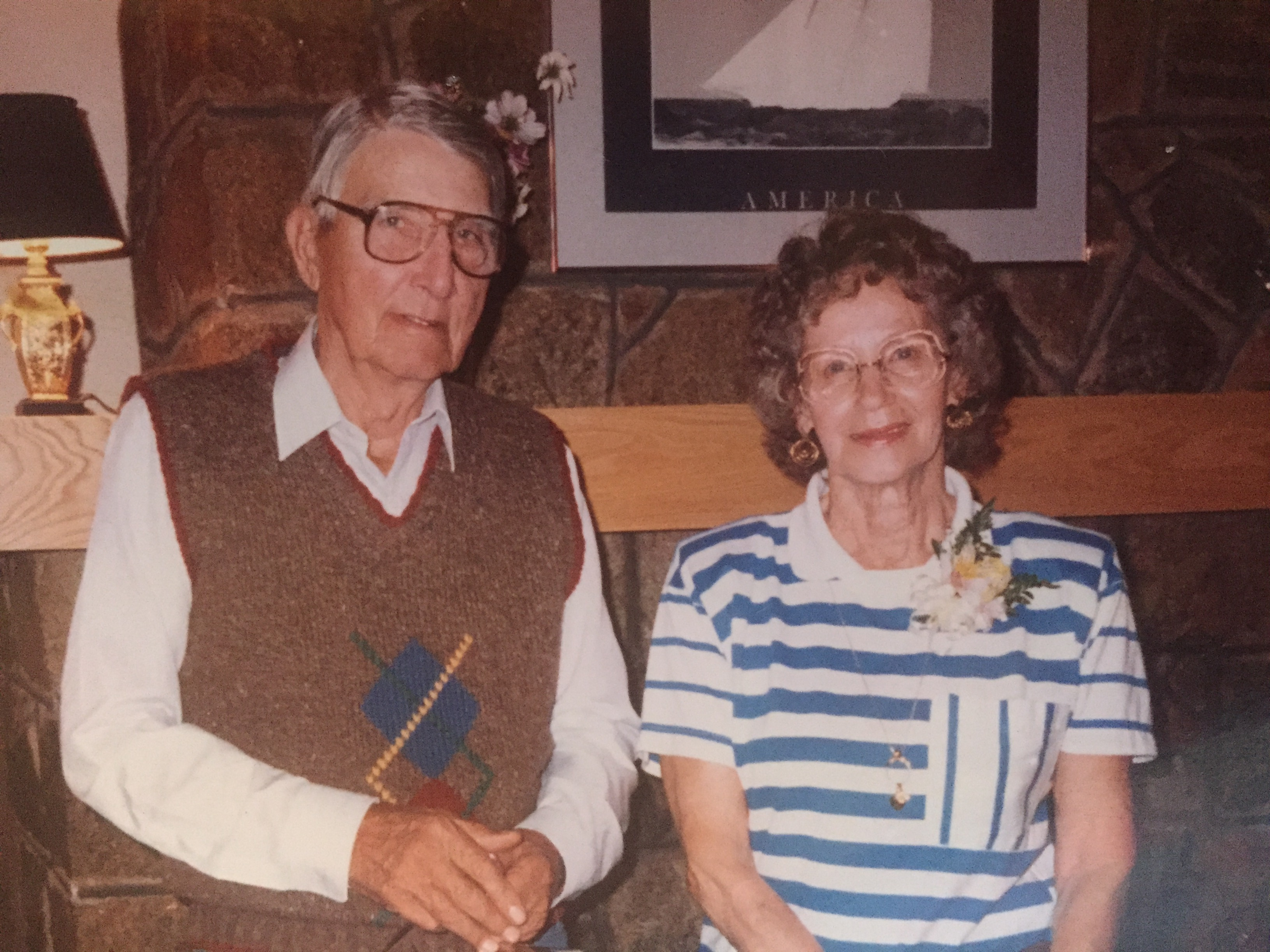 My grandparents, Ernest and Hilda Hanson, possibly in 1988. Photo courtesy of the Hanson family.