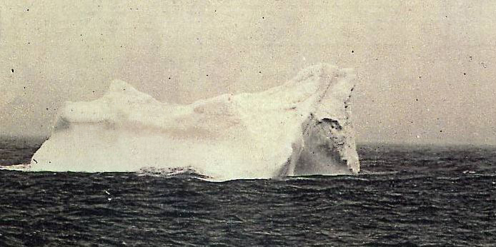 Photo of the iceberg which was probably rammed by the RMS Titanic. Photo was made by Stephan Rehorek via Wikimedia Commons