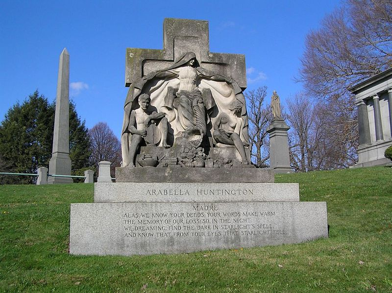 The monument of Arabella Huntington in Woodlawn Cemetery, Bronx, NY. Photo by Anthony22 via Wikimedia Commons