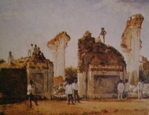 Ruinas de Cúa después del Terremoto de 1812 - Cristóbal Rojas