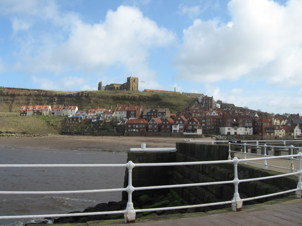 E5. Church and abbey from pier