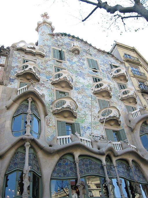 Casa Batlló, Barcelona. Photo Credit: Rapomon. (2005)