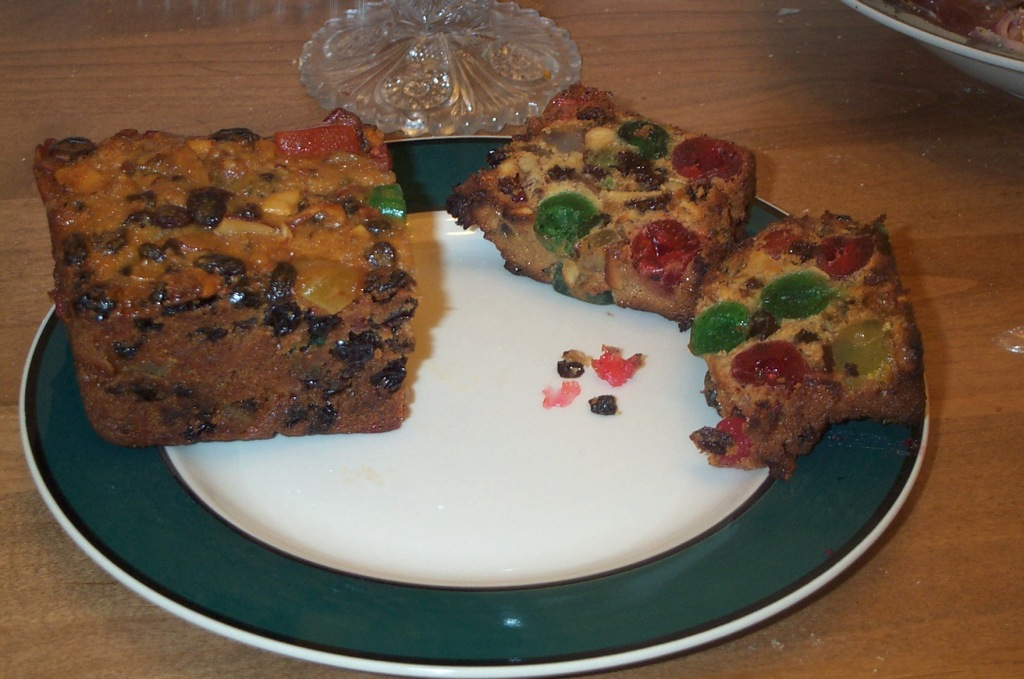 A slice of American fruitcake. Photo courtesy of Stu Spivack
