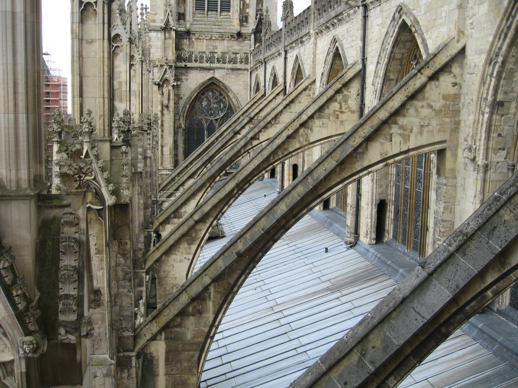 Flying Buttresses, York Minster. Photo Credit: Cathy Hanson