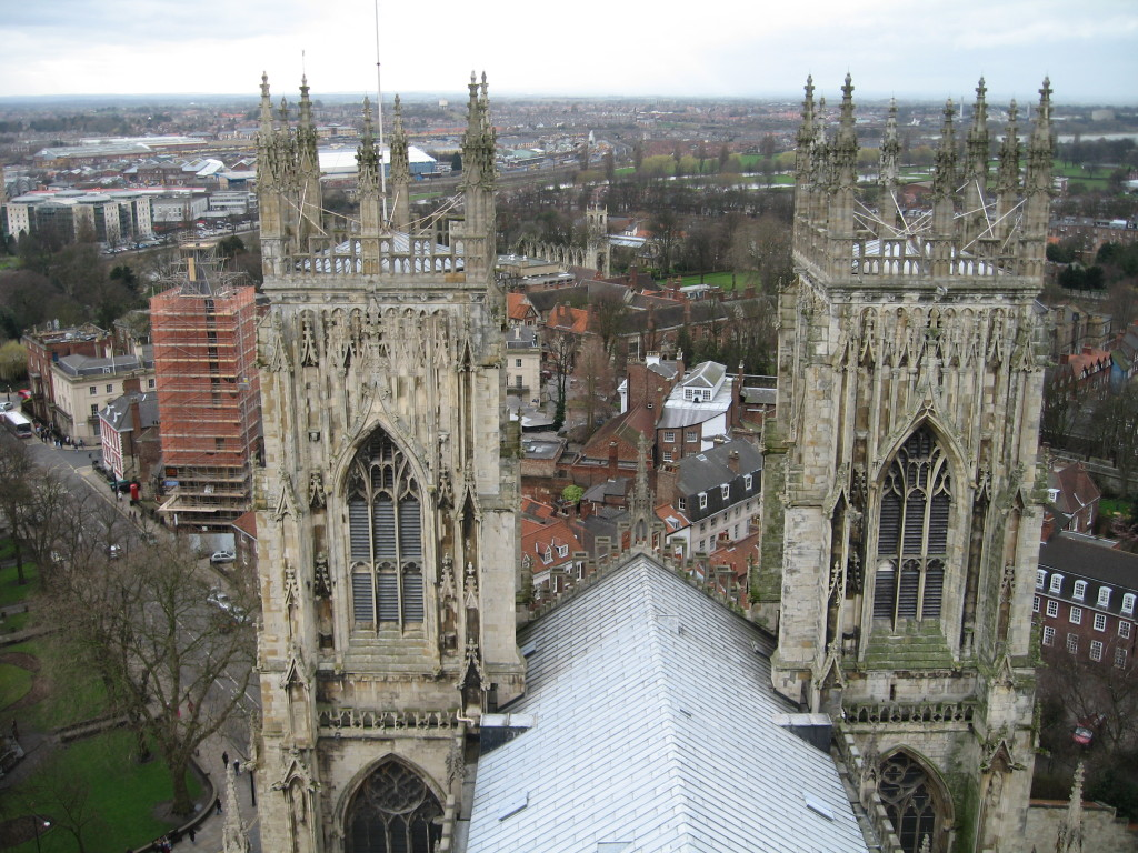 View from the central tower, York Minster. Photo Credit: Cathy Hanson