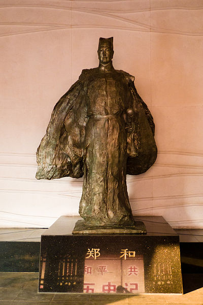 Bronze of Zheng He. Attribution: Quentin Scouflaire from Berlin, Germany