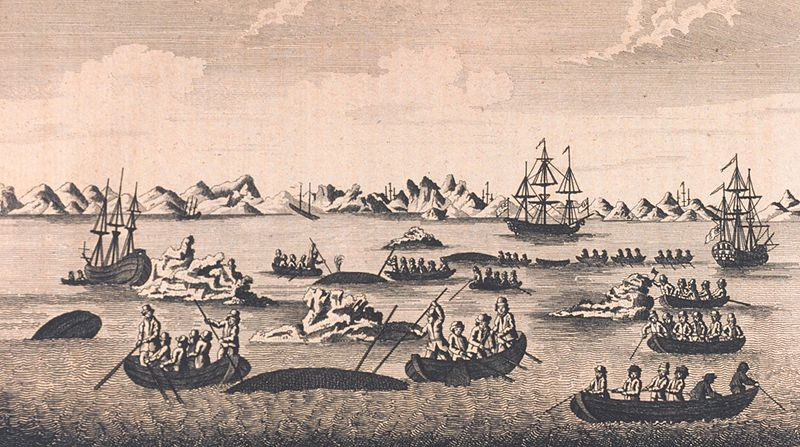 A view of whale fishery, 1790. Archival Photograph by Mr. Sean Linehan