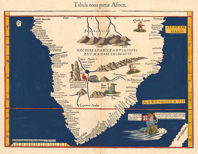 """1513 map by Martin Waldseemüller """"Tabula noua partis Africæ."""""""