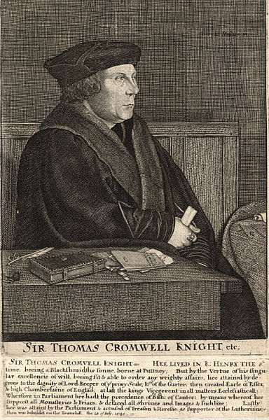 Sir Thomas Cromwell by Wenceslaus Hollar (1607-1677), unknown date.