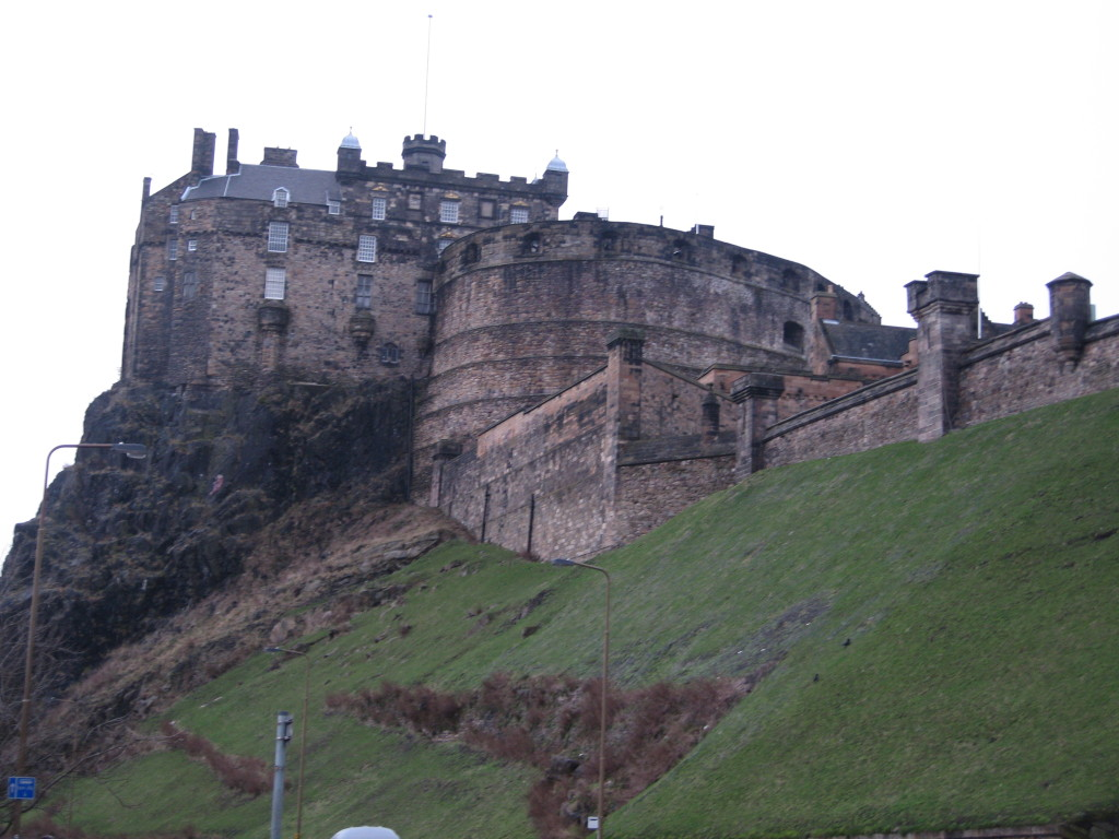 View of Edinburgh Castle from our hostel. Photo Credit: Cathy Hanson