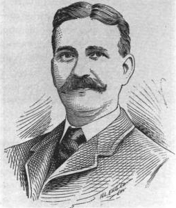 Portrait of L. Frank Baum by the Illinois Engraving Company, Chicago, which made the plates for The Wonderful Wizard of Oz, 1900.