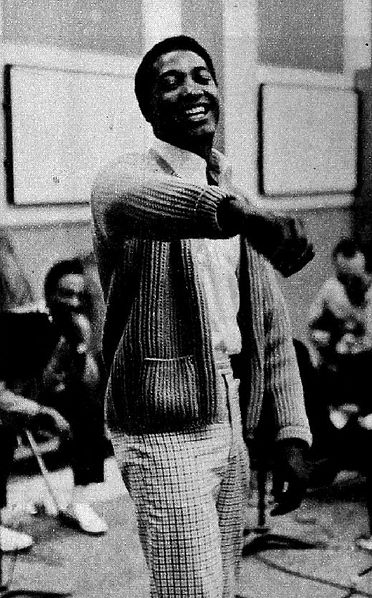 Sam Cooke in the recording studio in 1961. Photo: Macfadden Publications