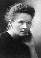 Marie Curie (born Maria Salomea Skłodowska), Nobel Prize awardee in Chemistry. Photo from Wikimedia Commons