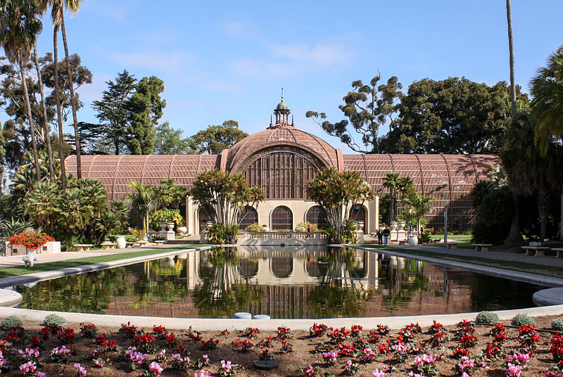 Balboa Park Botanical Building and Reflecting Pool. Photo:  Bernard Gagnon
