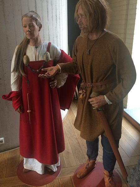 Reconstructed Vikings costume on display at Archaeological Museum in Stavanger, Norway. Photo: Wolfmann
