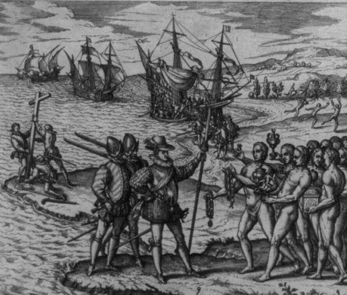 Columbus landing on Hispaniola. Photo: Wikimedia Commons