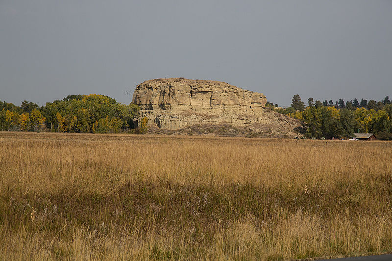 Pompeys Pillar National Monument, Montana. Photo: Bureau of Land Management from Wikimedia Commons