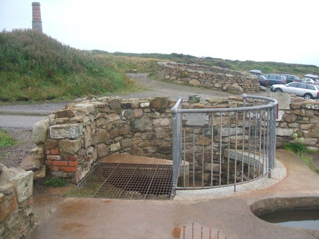 """Entrance to The Levant Mine """"Man Engine"""" Shaft. On Monday October 20th 1919 the man engine collapsed into the shaft with 100 men on it. 31 were killed. Photo: M Hunter via Wikimedia Commons"""