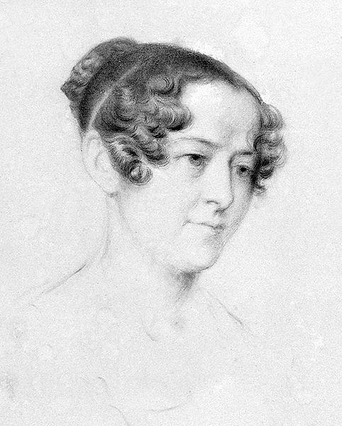 Jane, Lady Franklin, 1838, by Thomas Bock, chalk on paper. Photo: via Wikimedia Commons