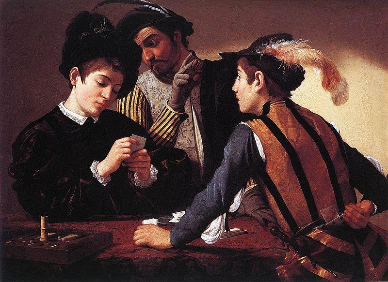 The Cardsharps, circa 1594, Kimbell Art Museum. Photo via Wikimedia Commons
