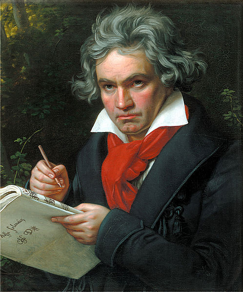 Portrait of Ludwig van Beethoven when composing the Missa Solemnis, painted 1820 by Joseph Karl Stieler (1781–1858), in Beethoven-Haus, Bonn. Photo via Wikimedia Commons