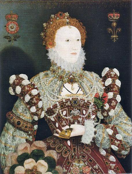 "The ""Pelican Portrait"" of Queen Elizabeth 1 c.1575 by Nicolas Hilliard. Photo via Wikimedia Commons"