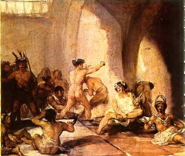 La casa de los locos by Francisco Goya, in the Real Academia de Bellas Artes de San Fernando. Photo via Wikimedia Commons