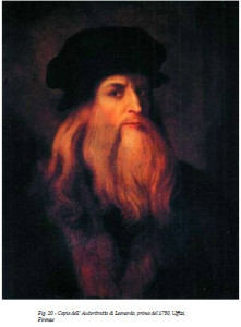 Anonymous portrait (once claimed to be a self-portrait) of Leonardo da Vinci, c. 1600. Uffizi, Florence. Photo by Nico Barbatelli via Wikimedia Commons
