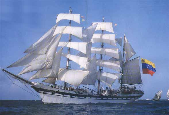 Venezuelan naval training ship Simon Bolivar. Photo by Manuel-venezuela via Wikimedia Commons.