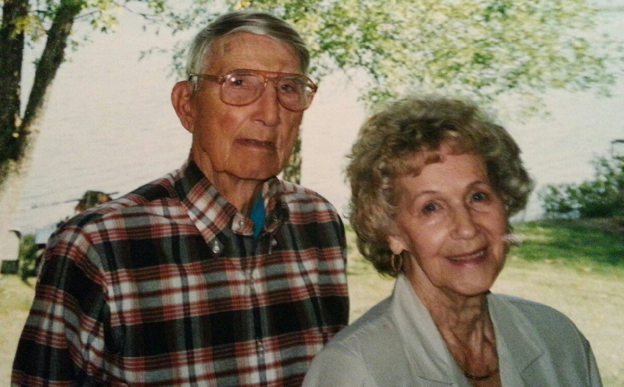 My grandparents, Ernest and Hilda Hanson, in 1996, the week before their 64th wedding anniversary. Photo courtesy of the Hanson family.