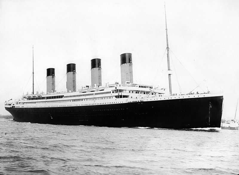 RMS Titanic departing Southampton on April 10, 1912. Author: F.G.O. Stuart (1843-1923) via Wikimedia Commons