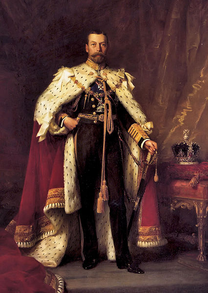 George V in coronation robes, painting by Luke Fildes (1843-1927). Photo via Wikimedia Commons