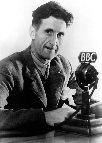 George Orwell in BBC 1940. Photo source http://www.penguinbooksindia.com/en/content/george-orwell via Wikimedia Commons