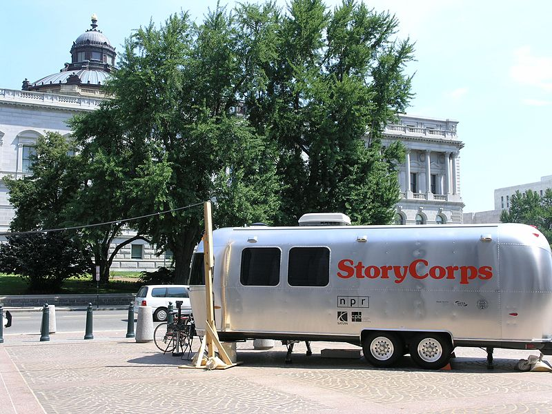 StoryCorps booth vehicle. Photo via Wikimedia Commons