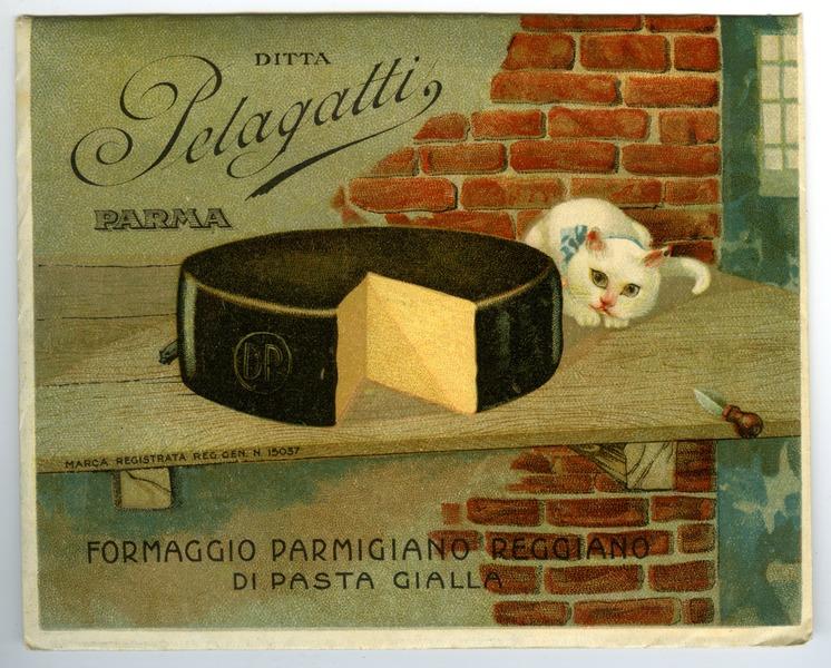 A print advertisement for Parmigiano-Reggiano from 1930. Photo: Musei del cibo via Wikimedia Commons