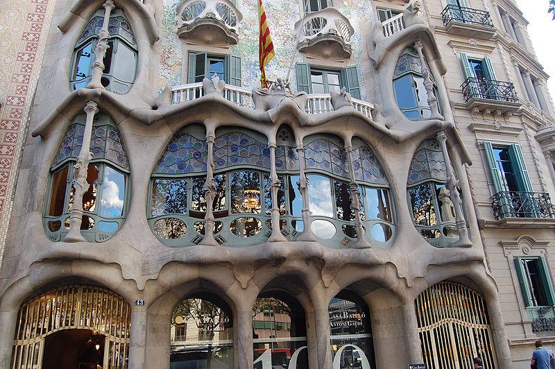 My personal favorite, Casa Batllo. Photo by tato grasso via Wikimedia Commons.