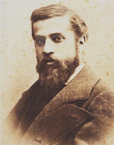 Portrait of Antoni Gaudí (1878) by Pablo Audouard Deglaire (1856 - 1919). Photo via Wikimedia Commons.