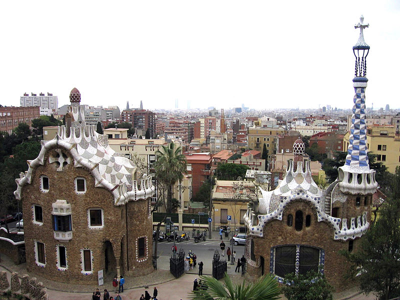 Park Guell. Photo by Canaan via Wikimedia Commons.