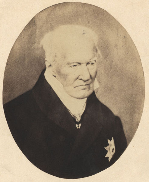 Portrait of Alexander von Humboldt, Verlag von L. Haase & Co. in Berlin, circa 1857, via Wikimedia Commons