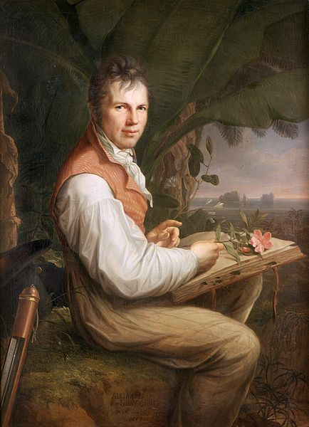 Portrait of Alexander von Humboldt, 1806, by artist Friedrich Georg Weitsch (1758-1828). Photo: avh.de via Wikimedia Commons
